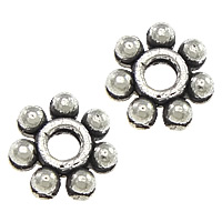 Zinc Alloy Spacer Beads Flower antique silver color plated nickel lead   cadmium free 5x5x1.50mm Hole:Approx 1mm 1000PCs/Lot