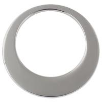 Roestvrij staal ring connectors, Donut, verschillende grootte voor keus, oorspronkelijke kleur, 50pC's/Bag, Verkocht door Bag