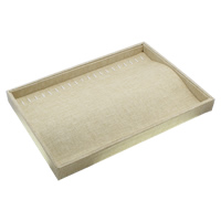 Linen Necklace Display, with Cardboard, Rectangle, 351x240x30mm, 3PCs/Bag, Sold By Bag