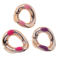 Copper Coated Plastic Linking Ring Twist UV plating enamel nickel lead   cadmium free 15x18x4mm Hole:Approx 7x10mm 500PCs/Bag