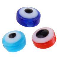Koraliki z żywicy Zło Eye, żywica, Płaskie koło, różnej wielkości do wyboru, dostępnych więcej kolorów, otwór:około 1-2mm, 2Torby/wiele, 1000komputery/torba, sprzedane przez wiele