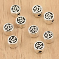 Thailand Sterling Silver Beads, Flat Round, 4.50x3.10mm, Hole:Approx 1mm, 70PCs/Lot, Sold By Lot