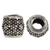 Thailand Sterling Silver Beads, Drum, 6x6mm, Hole:Approx 2mm, 40PCs/Bag, Sold By Bag