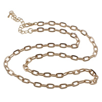 Iron Necklace Chain, with 7cm extender chain, plated, oval chain, more colors for choice, nickel, lead & cadmium free, 5x9x1.40mm, Sold Per Approx 20.5 Inch Strand