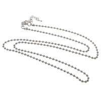 Iron Necklace Chain, with 7cm extender chain, plated, ball chain, more colors for choice, nickel, lead & cadmium free, 3.2mm, Sold Per Approx 30 Inch Strand