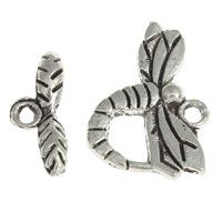 Zinc Alloy Toggle Clasp, Dragonfly, antique silver color plated, lead & cadmium free, 20x14x2mm, 15x6x2mm, Hole:Approx 2mm, 20Sets/Bag, Sold By Bag