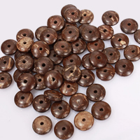 Coco Spacer Bead Flat Round natural Buddhist jewelry nickel lead   cadmium free Hole:Approx 1.5mm 100PCs/Lot