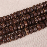 Coco Spacer Bead Flat Round natural Buddhist jewelry nickel lead   cadmium free Hole:Approx 2mm Approx 108PCs/Lot