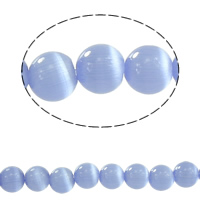Cats Eye Jewelry Beads, Round, different size for choice, light blue, Sold By Lot
