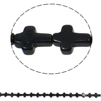 Natural Blue Goldstone Beads, Cross, 12x16x5mm, Hole:Approx 1mm, Approx 25PCs/Strand, Sold Per Approx 16.5 Inch Strand