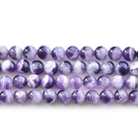 Natural Amethyst Beads, Round, February Birthstone & different size for choice, Length:Approx 15 Inch, Sold By Lot