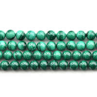 Natural Malachite Beads, Round, different size for choice, Grade AAAAA, Sold Per Approx 15 Inch Strand