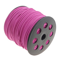 Velveteen Cord with plastic spool double-sided fuchsia pink 3x1.50mm Length:100 Yard