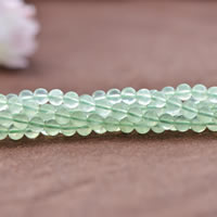 Natural Prehnite Beads, Round, Grade AAAAA, 6mm, Hole:Approx 0.7mm, 65PCs/Strand, Sold Per Approx 15 Inch Strand