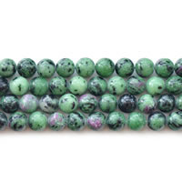 Ruby in Zoisite Beads, Round, natural, different size for choice, Length:Approx 15 Inch, Sold By Lot