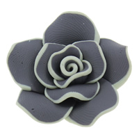 Бусины из полимерной глины, полимерный клей, Форма цветка, Связанный вручную, разный размер для выбора, отверстие:Приблизительно 1mm, 100ПК/сумка, продается сумка