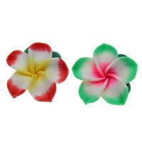 Бусины из полимерной глины, полимерный клей, Форма цветка, Связанный вручную, разноцветный, 25x10mm, отверстие:Приблизительно 1mm, 100ПК/сумка, продается сумка