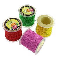 Elastic Thread, with plastic spool, more colors for choice, 51x54mm, 0.6mm, Hole:Approx 30mm, 5PCs/Lot, Approx 70m/PC, Sold By Lot