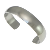 Stainless Steel Cuff Bangle, original color, 14mm, Inner Diameter:Approx 62x45mm, Length:Approx 7 Inch, Sold By PC