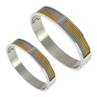 Stainless Steel Bangle, plated, different size for choice & two tone, Sold By PC