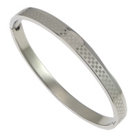 Stainless Steel Bangle, original color, 6mm, Inner Diameter:Approx 59x51mm, Length:Approx 6.5 Inch, Sold By PC