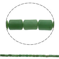 Green Aventurine Beads, Column, natural, 10x14mm, Hole:Approx 1mm, Approx 28PCs/Strand, Sold Per Approx 15.7 Inch Strand
