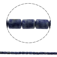 Natural Blue Spot Stone Beads, Column, 10x14mm, Hole:Approx 1mm, Approx 28PCs/Strand, Sold Per Approx 15.7 Inch Strand