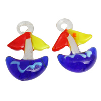 Fashion Lampwork Pendants, Anchor, handmade, nautical pattern, more colors for choice, 23x30x8mm, Hole:Approx 3x4mm, 10PCs/Bag, Sold By Bag