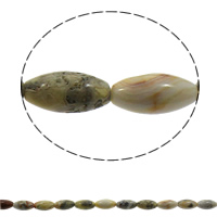 Natural Grey Agate Beads, Crazy Agate, Oval, 10x20mm, Hole:Approx 1mm, 20PCs/Strand, Sold Per Approx 15.7 Inch Strand