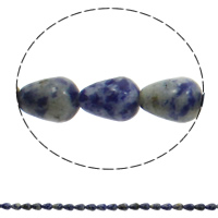 Natural Blue Spot Stone Beads, Teardrop, 10x14mm, Hole:Approx 1mm, 28PCs/Strand, Sold Per Approx 15.7 Inch Strand