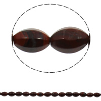 Red Jasper Beads, Oval, natural, 10x15mm, Hole:Approx 1mm, 28PCs/Strand, Sold Per Approx 15.7 Inch Strand