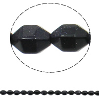 Natural Blue Goldstone Beads, 10x15mm, Hole:Approx 1mm, 28PCs/Strand, Sold Per Approx 15.7 Inch Strand