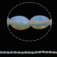 Sea Opal Beads, Oval, 10x15mm, Hole:Approx 1mm, 28PCs/Strand, Sold Per Approx 15.7 Inch Strand