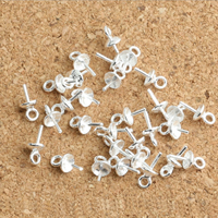 925 Sterling Silver Peg Bail, 8x4x0.80mm, Hole:Approx 1mm, 100PCs/Lot, Sold By Lot