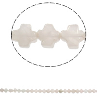 Natural Rose Quartz Beads, Cross, 8x4mm, Hole:Approx 1mm, Approx 50PCs/Strand, Sold Per Approx 16 Inch Strand