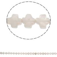 Naturliga rosenkvarts pärlor, Rose Quartz, Cross, 8x4mm, Hål:Ca 1mm, Ca 50PC/Strand, Såld Per Ca 16 inch Strand