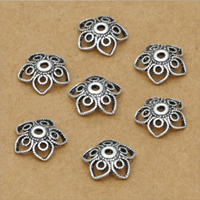 Thailand Sterling Silver Bead Caps, Flower, 10mm, 40PCs/Lot, Sold By Lot