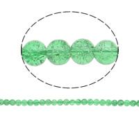 الخرز فرقعة الزجاج, زجاج, جولة, أخضر, 10mm, حفرة:تقريبا 2mm, طول:تقريبا 31 بوصة, 10جدائل/حقيبة, تباع بواسطة حقيبة
