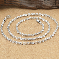 Таиланд Ожерелье цепь, разный размер для выбора & Овальный цепь, 3mm, продается Strand