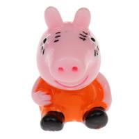 Cartoon Resin Cabochon, Pig, flat back, multi-colored, 23x32x25mm, 100PCs/Bag, Sold By Bag
