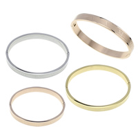 Stainless Steel Bangle, plated, different size for choice, more colors for choice, Sold By PC