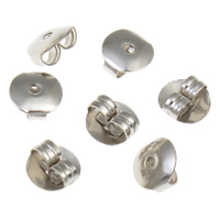 Ijzer Tension Ear Moer, platinum plated, nikkel, lood en cadmium vrij, 6x3mm, 10000pC's/Bag, Verkocht door Bag