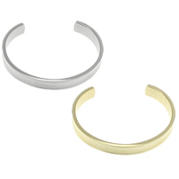 Stainless Steel Cuff Bangle, plated, open & different size for choice, more colors for choice, Sold By PC