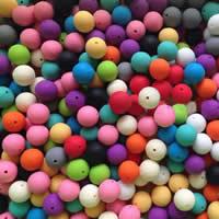 Силиконовые шарики, Силикон, Круглая, Много цветов для выбора, 10mm, отверстие:Приблизительно 2mm, 100ПК/сумка, продается сумка