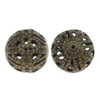 Iron Sieraden Kralen, Ijzer, Ronde, antiek brons plated, hol, nikkel, lood en cadmium vrij, 15x14mm, Gat:Ca 1mm, 500pC's/Bag, Verkocht door Bag