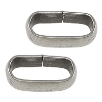 Stainless Steel Bracelet Finding Oval original color 10.50x6x3.50mm Hole:Approx 8x3.5mm 2000PCs/Lot