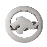 Stainless Steel Bracelet Finding, Elephant, 3-hole & hollow, original color, 23.50x10mm, Hole:Approx 5mm, 30PCs/Lot, Sold By Lot