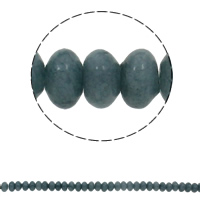 Natural Blue Agate Beads, Rondelle, 10x6mm, Hole:Approx 1.5mm, Approx 64PCs/Strand, Sold Per Approx 15.7 Inch Strand
