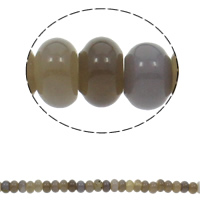 Natural Grey Agate Beads, Rondelle, 10x6mm, Hole:Approx 1.5mm, Approx 64PCs/Strand, Sold Per Approx 15.7 Inch Strand