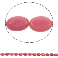 Natural Rhodonite Beads, Flat Oval, 13x18x5mm, Hole:Approx 1.5mm, Approx 23PCs/Strand, Sold Per Approx 15.7 Inch Strand